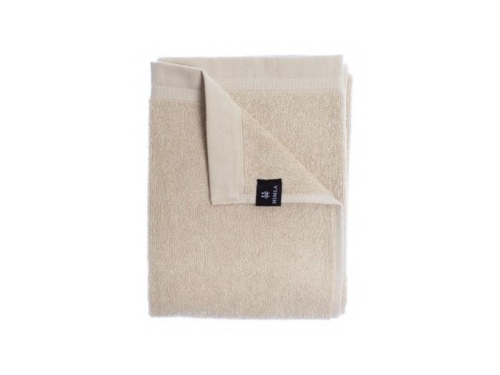 3-pak szare piaskowe ręczniki Lina OEKO-TEX z lnu i bawełny 30x50 HIMLA Bawełna Ręcznik do rąk 30x50 cm Łazienkowe Len Kolor Beżowy