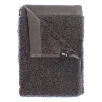 2-pak ciemnoszare ręczniki 30x50 Maxime GOTS z bawełny organicznej HIMLA