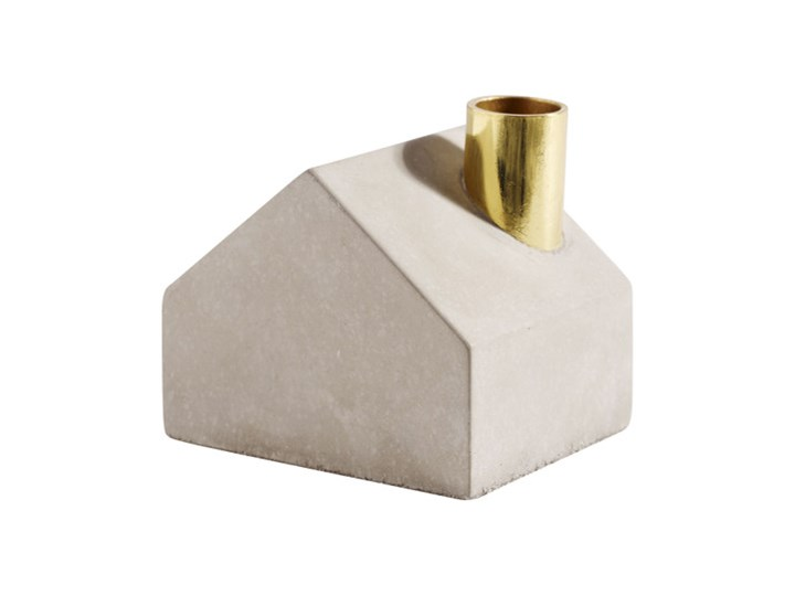 Szary świecznik domek Sarah z betonu MUUBS Kategoria Świeczniki i świece Kolor Biały