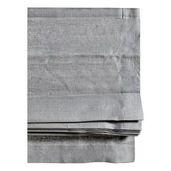 Szara roleta rzymska Ebba z lnu i bawełny 140x180 HIMLA