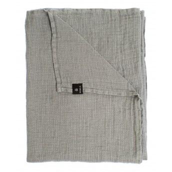 Szary lniany ręcznik 70x135 Fresh Laundry w waflowy wzór HIMLA