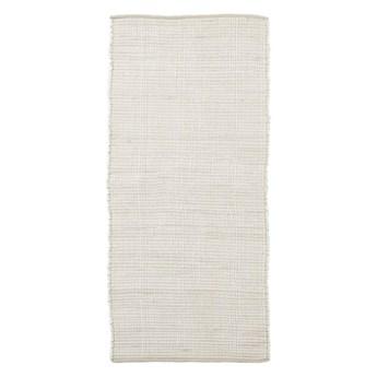 Biały dywan chodnik Chindi 70x160 z bawełny HOUSE DOCTOR