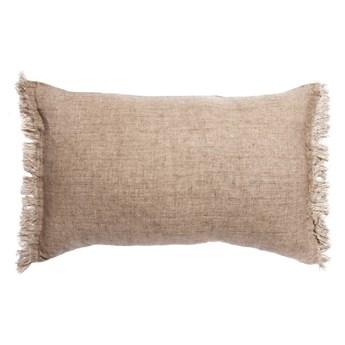 Naturalna poduszka dekoracyjna Levelin z lnu z wypełnieniem puchem kaczym 40x60 HIMLA