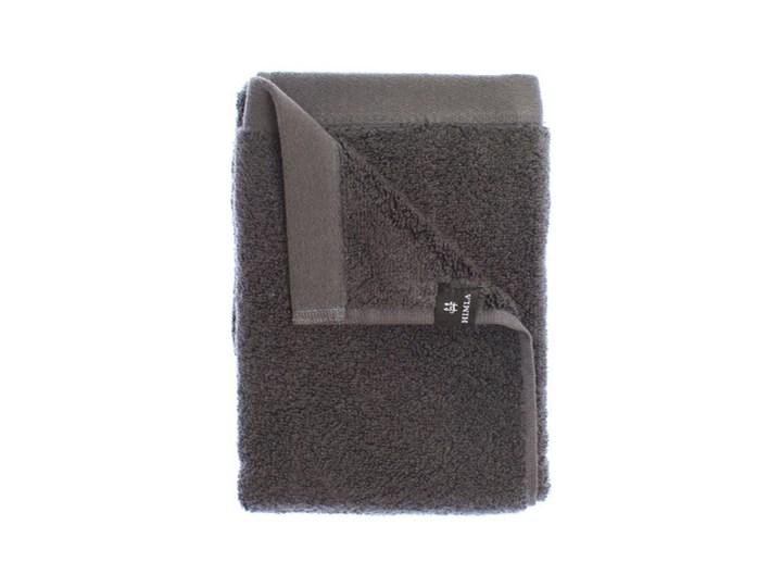 Ciemnoszary ręcznik kąpielowy 100x150 Maxime GOTS z bawełny organicznej HIMLA