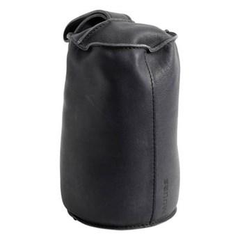 Designerski skórzany stoper do drzwi w kolorze czarnym MUUBS