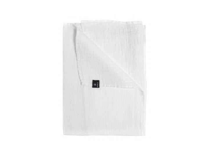 Biały lniany ręcznik 70x135 Fresh Laundry w waflowy wzór HIMLA