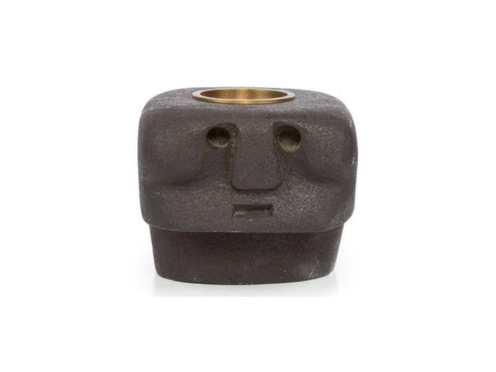 Czarny świecznik Sumba Stone 27 z piaskowca BAZAR BIZAR