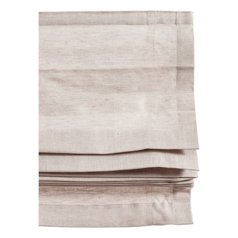 Naturalna roleta rzymska Ebba z lnu i bawełny 120x180 HIMLA