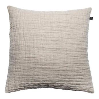Duża naturalna poduszka dekoracyjna 50x50 Hannelin z lnu HIMLA