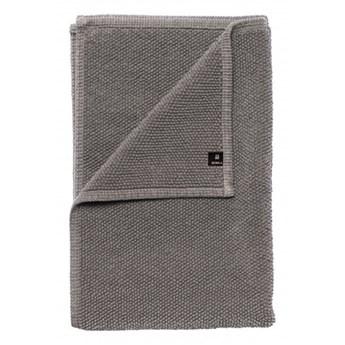 Szary dywanik łazienkowy Max OEKO-TEX 60x90 z bawełny HIMLA