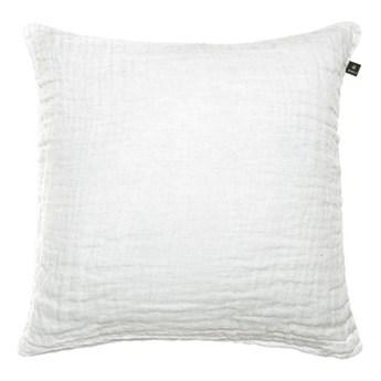 Duża biała poduszka dekoracyjna 50x50 Hannelin z lnu HIMLA