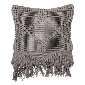 Duża szara dekoracyjna poduszka 50x45 z bawełny BLOOMINGVILLE