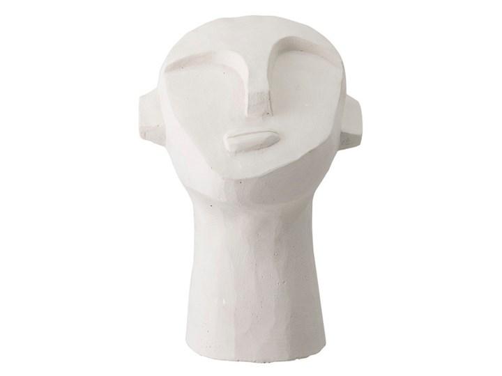 Nowoczesna biała dekoracja rzeźba z cementu BLOOMINGVILLE