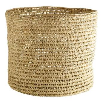 Okrągły duży kosz Basstorage z liści palmowych TINE K HOME