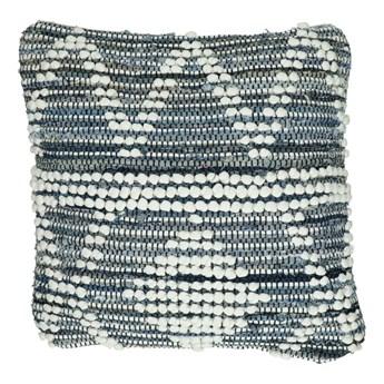 Duża niebieska poduszka dekoracyjna Sea 45x45 z denimu POMAX