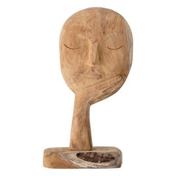 Nowoczesna dekoracja rzeźba z drewna z recyklingu BLOOMINGVILLE
