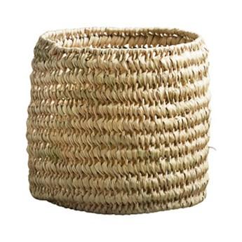 Okrągły koszyk Basstorage do przechowywania z liści palmowych TINE K HOME