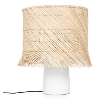 Biała lampa stołowa Jab z kloszem pandan BAZAR BIZAR