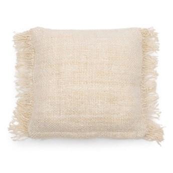 Kremowa poduszka S'il 40x40 z bawełny BAZAR BIZAR