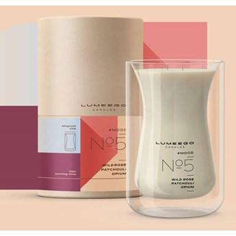 Świeca zapachowa sojowa - Nastrój No 5 Dzika róża Paczula - Magnum Wave 900 ml - LUMEEGO CANDLES