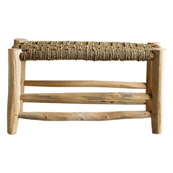 Stołek ławka Doum Double z drewna palmowego TINE K HOME