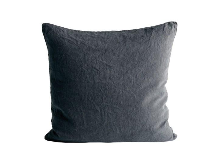 Taboret podnóżek z tapicerowanym siedziskiem Mammoth - drewno dębowe czarne Black skóra Cognac NORR11 Kwadratowe Len Aksamit 50x50 cm Pomieszczenie Sypialnia