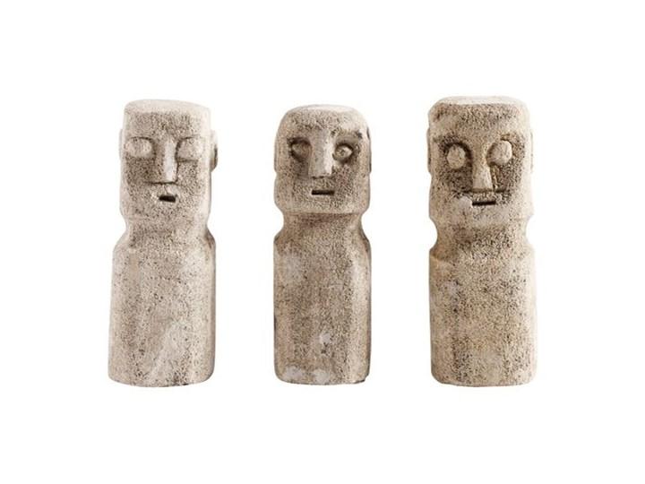Trzy dekoracje rzeźba Ray z piaskowca MUUBS Kategoria Figury i rzeźby Kolor Beżowy