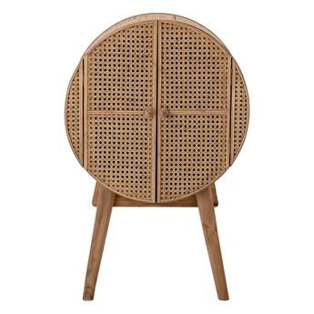 Okrągła komoda Otto z drewna jodłowego i rattanu BLOOMINGVILLE
