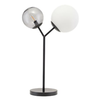 Czarna lampa stołowa Twice ze szkła i metalu HOUSE DOCTOR