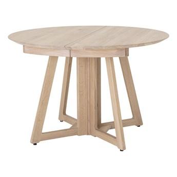 Okrągły stół rozkładany Owen 118-168-218 z drewna dębowego BLOOMINGVILLE