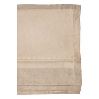 Beżowa roleta rzymska Sunday z lnu 150x180 HIMLA