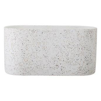 Mrozoodporna szara doniczka betonowa BLOOMINGVILLE
