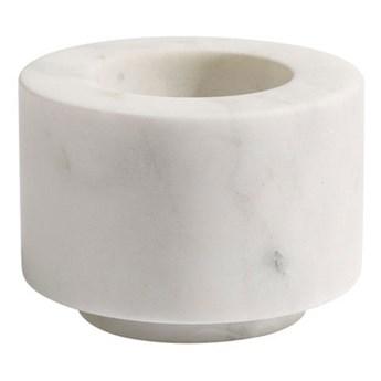 Biały świecznik z marmuru na tealights MUUBS