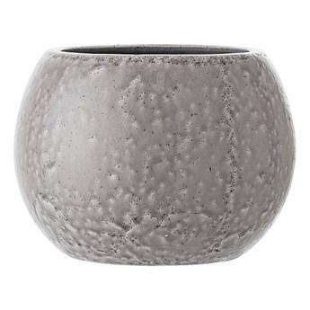 Jasnoszara kulista doniczka ceramiczna BLOOMINGVILLE