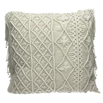 Duża dekoracyjna poduszka z makramy Anna POMAX