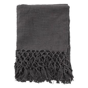 Ciemny szary bawełniany pled 150x125 BLOOMINGVILLE