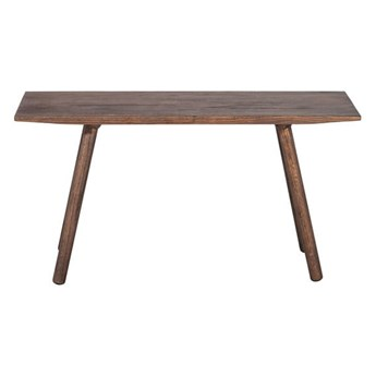 Brązowa ławka Noir Dark z drewna dębowego MUUBS