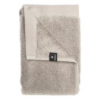 2-pak szare ręczniki 50x70 Maxime GOTS z bawełny organicznej HIMLA