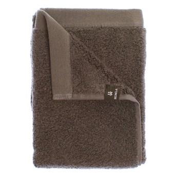 Brązowy ręcznik kąpielowy Maxime GOTS z bawełny organicznej 100x150 HIMLA