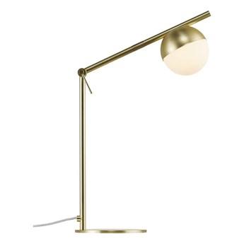 Nowoczesna lampa stołowa biurkowa Contina w kolorze mosiądzu NORDLUX