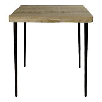 Stół do jadalni i kuchni Leno 70 z naturalnym blatem z drewna mango POMAX