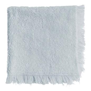 3-pak błękitne ręczniki Fringe z frędzlami 30x30 z bawełny frotte TINE K HOME