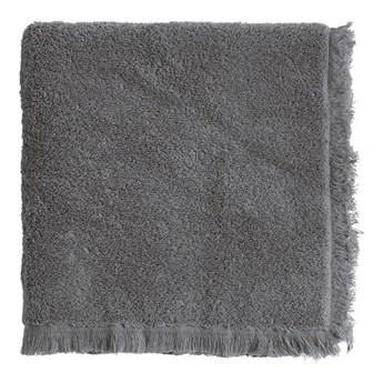 2-pak szare ręczniki Fringe z frędzlami 50x100 z bawełny frotte TINE K HOME
