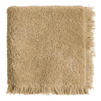 3-pak owsiano-beżowe ręczniki Fringe z frędzlami 30x30 z bawełny frotte TINE K HOME