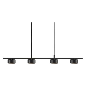 Czarna nowoczesna lampa sufitowa Clyde 4-głowicowa NORDLUX