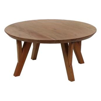 Okrągły stolik kawowy Hopper z drewna akacjowego POMAX