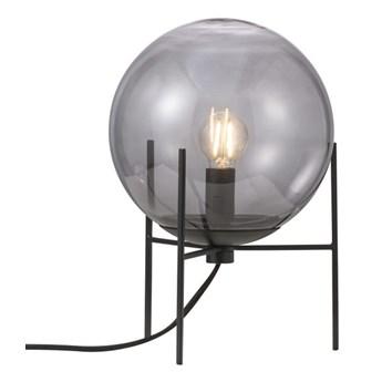Kulista lampa stołowa Alton z ciemnego szkła NORDLUX