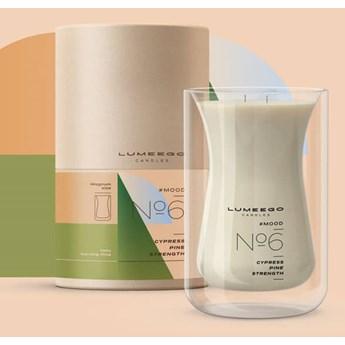 Świeca zapachowa sojowa - Nastrój No 6 Cyprys Sosna - Magnum Wave 900 ml - LUMEEGO CANDLES