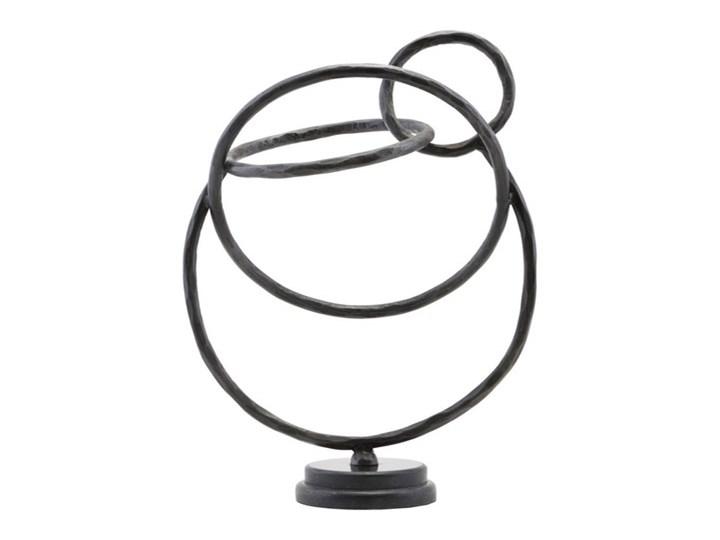 Duża nowoczesna dekoracja stojąca rzeźba Circles z żelaza i marmuru HOUSE DOCTOR
