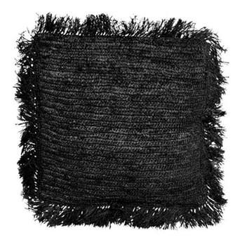 Czarna poduszka dekoracyjna z rafii Square 40x40 BAZAR BIZAR